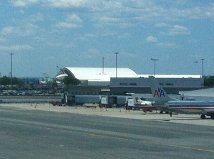 at jfk airport, i got to see the space shuttle which is temporarily docking here in new york.  astronauts may purchase items at the duty free shop only if they can produce a ticket that shows a nonstop flight to another planet.