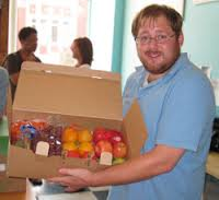 my friend chris kennedy and his wife sheila started the nonprofit organization top box which helps bring fresh and affordable groceries into communities where there is a dearth of groceries.  everyone should have access to good fruits and vegetables.  this, by the way, is not a picture of chris.