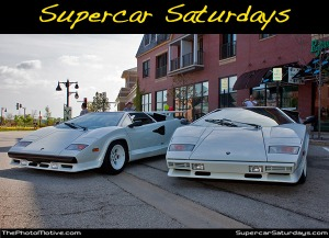 people who are just as in lust with their cars gather together to ogle each other's rides.  my car is not technically a supercar.  in fact, it's a cheap ride that has a fancy paint job.  but the folks at supercar saturdays and v12 automotive have invited me to the bannockburn show on this coming saturday!