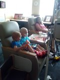 when i visited ashton at cincinnati, he had a favorite friend isaac.  both boys are superheroes.
